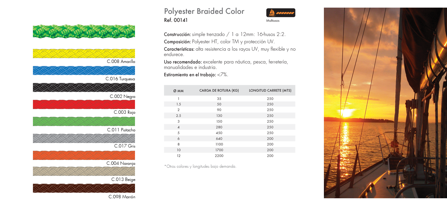 Polyester Braided Color